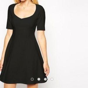ASOS short sleeve sweetheart skater dress